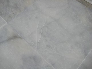 BLANCO IBIZA sawn: marble white dark, stone slightly veined grey