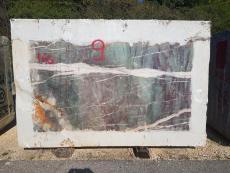 Supply diamondcut blocks 70.9 cm in natural quartzite AMAZZONITE CRISTALLO D211016. Detail image pictures