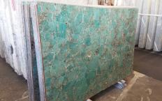 Supply polished slabs 2 cm in natural semi precious stone AMAZZONITE Z0206. Detail image pictures