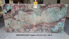 Supply polished slabs 0.8 cm in natural semi precious stone AMAZZONITE Z0011. Detail image pictures