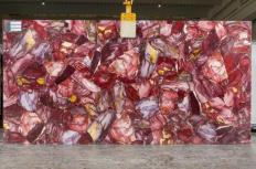 Supply polished slabs 0.8 cm in natural semi precious stone AMETISTA TL0036. Detail image pictures