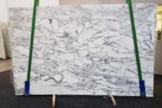 Supply honed slabs 0.8 cm in natural marble ARABESCATO CERVAIOLE GL 1023. Detail image pictures