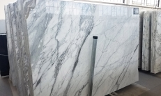 Supply polished slabs 0.8 cm in natural marble ARABESCATO VAGLI U0186. Detail image pictures
