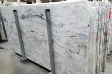 Supply polished slabs 0.8 cm in natural Dolomite ARTIC WHITE 1236G. Detail image pictures