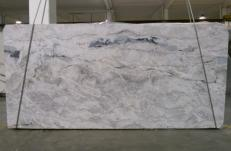 Supply polished slabs 1.2 cm in natural Dolomite ARTIC WHITE 1236G. Detail image pictures