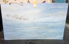 Supply polished slabs 2 cm in natural marble AZUL MAKAUBA Z0191. Detail image pictures