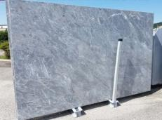 Supply honed slabs 0.8 cm in natural marble BARDIGLIO NUVOLATO CHIARO AA T0043. Detail image pictures