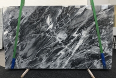Supply polished slabs 0.8 cm in natural marble BARDIGLIO NUVOLATO SCURO 1172. Detail image pictures