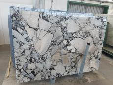 Supply polished slabs 0.8 cm in natural marble BEAUTY GREY UL0077. Detail image pictures