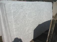 Supply honed slabs 0.8 cm in natural marble BIANCO BROUILLE' EM_0492B. Detail image pictures