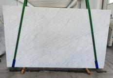 Supply polished slabs 3 cm in natural marble BIANCO CARRARA C 1441. Detail image pictures