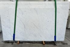Supply polished slabs 1.2 cm in natural marble BIANCO CARRARA C 1441. Detail image pictures