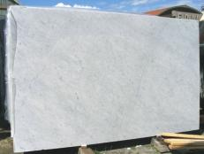 Supply polished slabs 0.8 cm in natural marble BIANCO CARRARA CD EDM25103. Detail image pictures