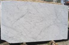 Supply polished slabs 0.8 cm in natural marble BIANCO CARRARA CD EDM25106. Detail image pictures
