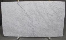Supply honed slabs 0.8 cm in natural marble BIANCO CARRARA CD 1427M. Detail image pictures