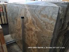 Supply polished slabs 0.8 cm in natural onyx Black Cloud AA S0106. Detail image pictures