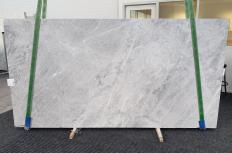 Supply honed slabs 0.8 cm in natural marble BLUE DE SAVOIE 1259. Detail image pictures