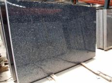 Supply polished slabs 0.8 cm in natural labradorite BLUE PEARL GT TW 19659. Detail image pictures