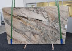 Supply polished slabs 0.8 cm in natural brech BRECCIA AURORA GL 1057. Detail image pictures