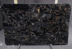 Supply polished slabs 1.2 cm in natural marble BRECCIA PORTORO 1064M. Detail image pictures