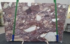 Supply polished slabs 0.8 cm in natural brech BRECCIA VIOLA 1289. Detail image pictures