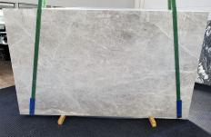 Supply polished slabs 1.2 cm in natural marble BRILLANT GREY 1410. Detail image pictures