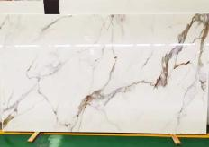 Supply polished slabs 0.7 cm in heat resistant melting glass CALA VEIN E Model-E. Detail image pictures