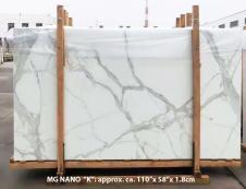 Supply polished slabs 0.7 cm in heat resistant melting glass CALA VEIN K Model-K. Detail image pictures
