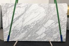 Supply honed slabs 0.8 cm in natural marble CALACATTA BELGIA 1146. Detail image pictures