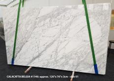 Supply polished slabs 1.2 cm in natural marble CALACATTA BELGIA 1146. Detail image pictures
