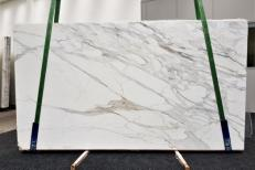 Supply polished slabs 2 cm in natural marble CALACATTA BORGHINI GL 1095. Detail image pictures