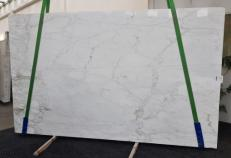 Supply polished slabs 0.8 cm in natural marble CALACATTA CALDIA GL 1039. Detail image pictures