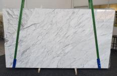 Supply polished slabs 1.2 cm in natural marble CALACATTA CARRARA 1295. Detail image pictures