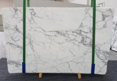 Supply polished slabs 0.8 cm in natural marble CALACATTA EXTRA 1255. Detail image pictures