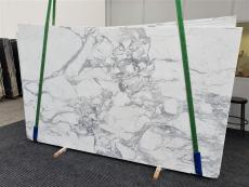 Supply polished slabs 0.8 cm in natural marble CALACATTA EXTRA 1373. Detail image pictures