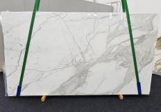 Supply polished slabs 0.8 cm in natural marble CALACATTA EXTRA 1366. Detail image pictures