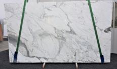 Supply polished slabs 1.2 cm in natural marble CALACATTA FANTASIA GL 998. Detail image pictures