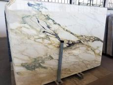 Supply polished slabs 0.8 cm in natural marble CALACATTA FIORITO U0433. Detail image pictures