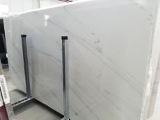 Supply polished slabs 0.8 cm in natural marble CALACATTA LINCOLN GOLD VEIN 1670M. Detail image pictures