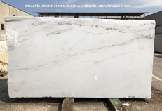 Supply polished slabs 0.8 cm in natural marble CALACATTA LINCOLN 1408M. Detail image pictures