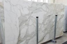 Supply polished slabs 0.8 cm in natural marble CALACATTA MACCHIA ANTICA 1389. Detail image pictures