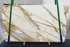 Supply polished slabs 0.8 cm in natural marble CALACATTA MACCHIAVECCHIA 1272. Detail image pictures