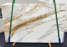 Supply polished slabs 0.8 cm in natural marble CALACATTA MACCHIAVECCHIA 1354. Detail image pictures