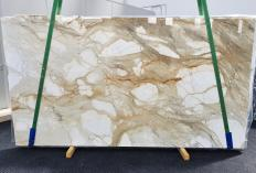 Supply polished slabs 0.8 cm in natural marble CALACATTA MACCHIAVECCHIA 1429. Detail image pictures