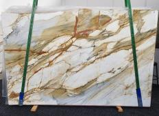 Supply polished slabs 0.8 cm in natural marble CALACATTA MACCHIAVECCHIA 1422. Detail image pictures