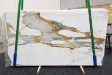 Supply polished slabs 0.79 cm in natural marble CALACATTA MACCHIAVECCHIA GL 1130. Detail image pictures