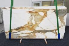 Supply polished slabs 0.8 cm in natural marble CALACATTA MACCHIAVECCHIA GL 1130. Detail image pictures