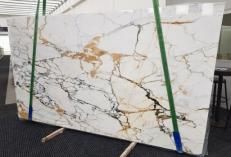 Supply polished slabs 2 cm in natural marble CALACATTA MACCHIAVECCHIA GL 1131. Detail image pictures