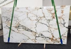 Supply polished slabs 0.79 cm in natural marble CALACATTA MACCHIAVECCHIA GL 1131. Detail image pictures