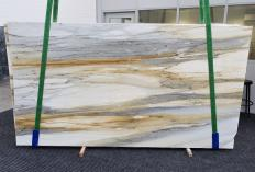 Supply polished slabs 0.8 cm in natural marble CALACATTA MAJESTIC 1343. Detail image pictures